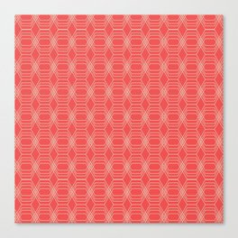 hopscotch-hex sherbet Canvas Print