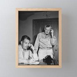 Manhattan Project - General Leslie Groves and Thomas Farrell - 1945 Framed Mini Art Print