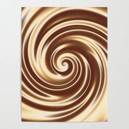 Chocolate milk cocktail spiral Poster