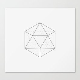 Black & white Icosahedron Canvas Print
