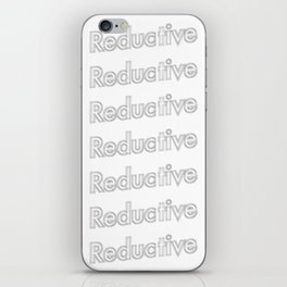 Reductive  iPhone Skin