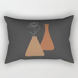 Minimal Terracotta Pots, Minimalist Digital Design Rectangular Pillow