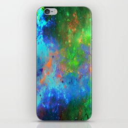 Speed Of Light - Abstract space painting iPhone Skin