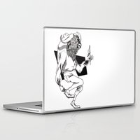 bison Laptop & iPad Skins featuring Bison by Hopler Art