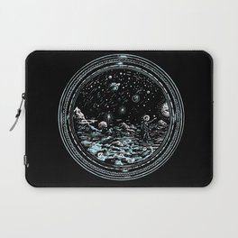 Miniature Circle Landscape 2: Astronausea.. Laptop Sleeve