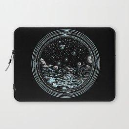 Miniature Circle Landscape 2: Astronausea.. Laptop Sleeve