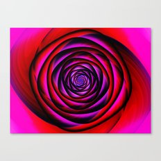 Fractal Rose Canvas Print