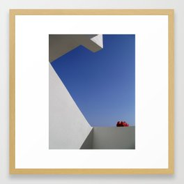 a little red, white and blue Framed Art Print