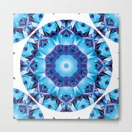 Fractal Geometry Mandala Metal Print