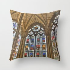 Windows of Westminster Abbey Throw Pillow