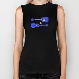 Songbird Blues ~ Cute bird on ukulele Biker Tank