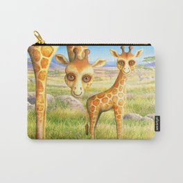 Giraffe and Calf Carry-All Pouch