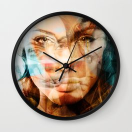 faces of Angelina Jolie Wall Clock