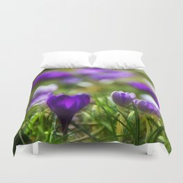 Heralds of spring Duvet Cover