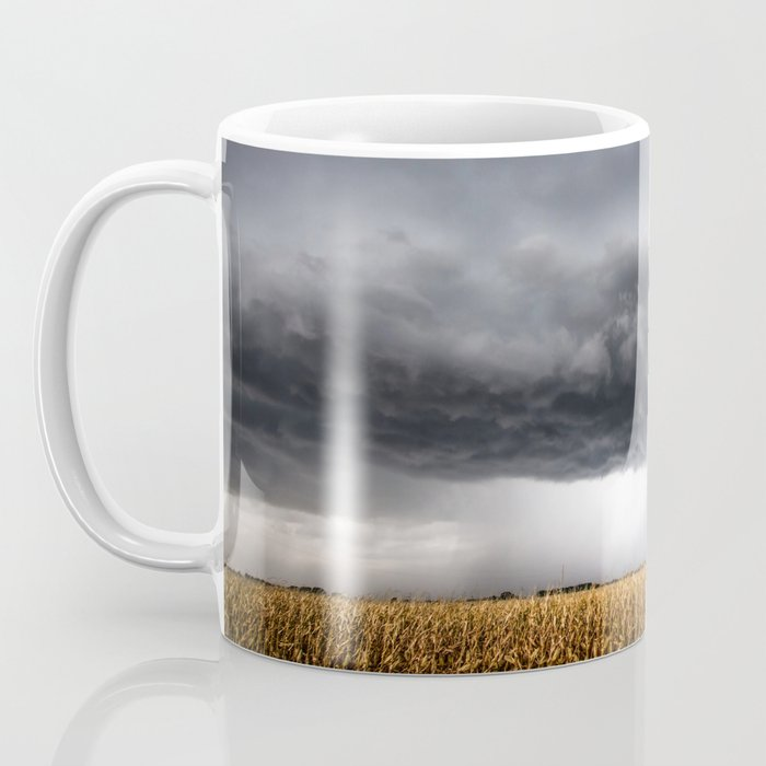 Corn Field - Storm Over Withered Crop in Southern Kansas Coffee Mug