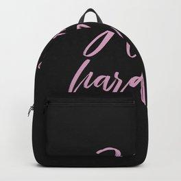 hustle hard - black Backpack