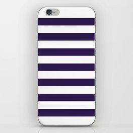 dark purple stripes iPhone Skin