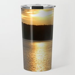 Sunset at Concord's Walden Pond 11 Travel Mug