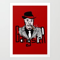 gangster Art Prints featuring Gangster by Logan_J