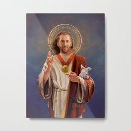 Saint Nicolas of Cage Metal Print