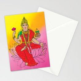 Laxmi Goddess Stationery Cards