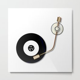 Record And Arm Metal Print