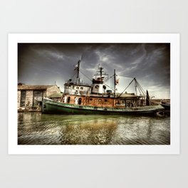 Boat on The River Art Print