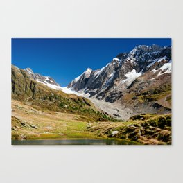 Guggisee mountain lake Canvas Print