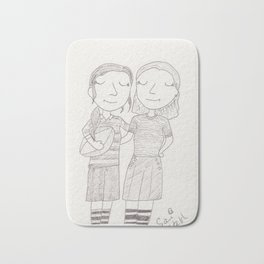 Peggy & Angie - rugby Bath Mat