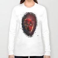 pool Long Sleeve T-shirts featuring Dead Pool by Andrew Treherne