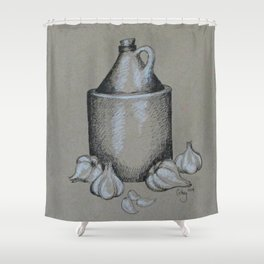Moonshine & Garlic Shower Curtain