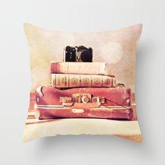 Still Life With Portmanteau Throw Pillow