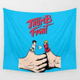 Thumb Fight Wall Tapestry