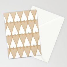 Sugar Heart Pattern Stationery Cards
