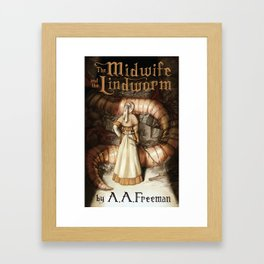 The Midwife and the Lindworm - Title Version Framed Art Print