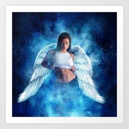 Ad Girl's Heaven Plea Art Print