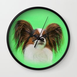 Papillon -Continental Toy Spaniel Wall Clock