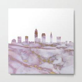 Cleveland Skyline Ohio Metal Print
