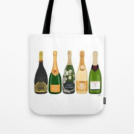 Champagne Bottles Tote Bag