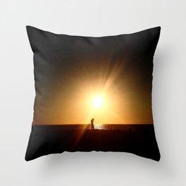 Sunset Tech Throw Pillow