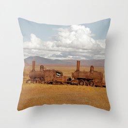 Train Going Nowhere Throw Pillow
