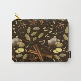 Chai Spices Dark Carry-All Pouch