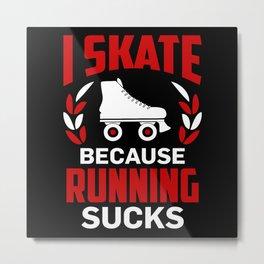 Roller Skates Running Metal Print