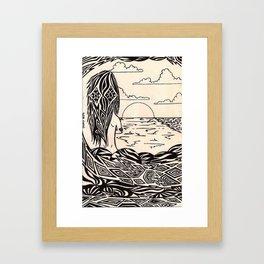 sunset girl 1 Framed Art Print