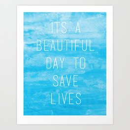 Grey's Anatomy McDreamy Quote Art Print