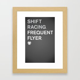Frequent Flyer Framed Art Print