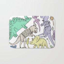 dinosaur friends Bath Mat