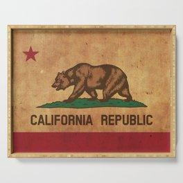California Republic Vintage Flag Serving Tray