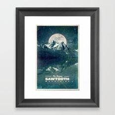 Sawtooths: Stanley Lake Framed Art Print
