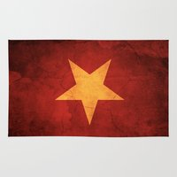 vietnam Area & Throw Rugs featuring Vietnam Flag by anhnt32